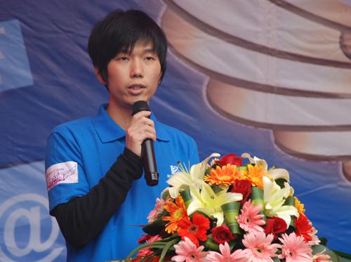 5《梦想成真》真人秀参赛选手代表江奥肸同学发言.JPG