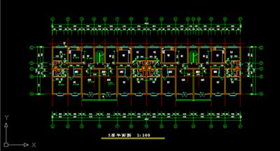 cad总平面图 cad总平面图的疏散图 山区cad总平面图-板房cad平面图