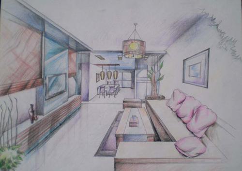 多彩室内手工绘图--湖南长沙新华电脑学院
