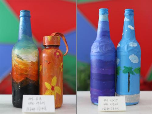 瓶子手绘活动:瓶子穿上新衣之后,果然变得够漂亮!